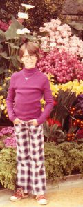 I swear that my mother did not choose these plaid pants.